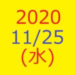 株式デイトレード結果・20201125(水)