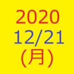 【トリプルメソッド】株式デイトレード結果・2020/12/21(月)
