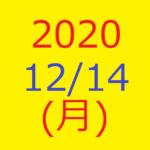 株式デイトレード結果・2020/12/14(月)