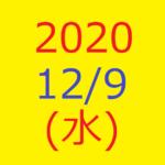 株式デイトレード結果・2020/12/09(水)